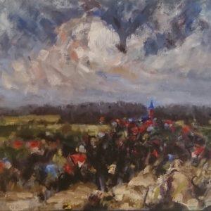 Domburg Januari 2020 Oil on linen/Olieverf op linnen - 24 X 30 cm
