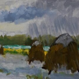 Hooibergjes in de regen Zoutelande